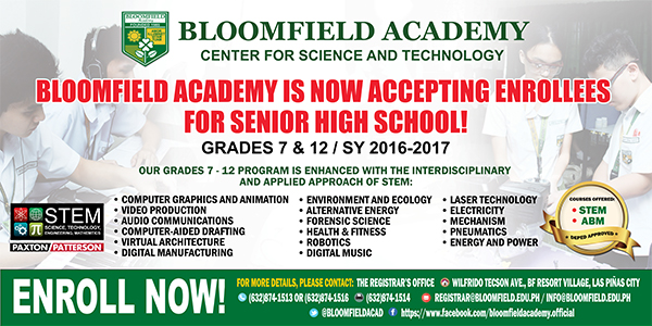 Now accepting enrollees for Senior High School