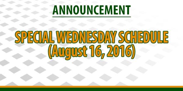 Announcement (August 15, 2016)