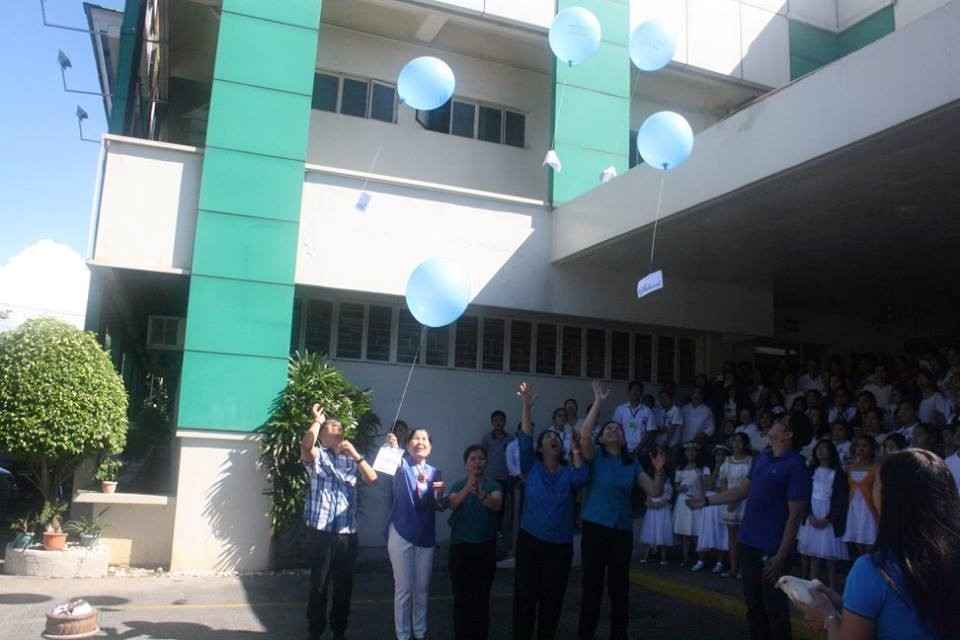 Sir Sonny, Ms. Milette, Ms. Leng, Ms. Bambie, and Ms. Mavic led the release of the balloons with intentions attached with them.