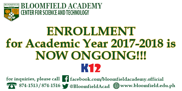 Enrollment for Academic Year 2017-2018 is NOW ONGOING!
