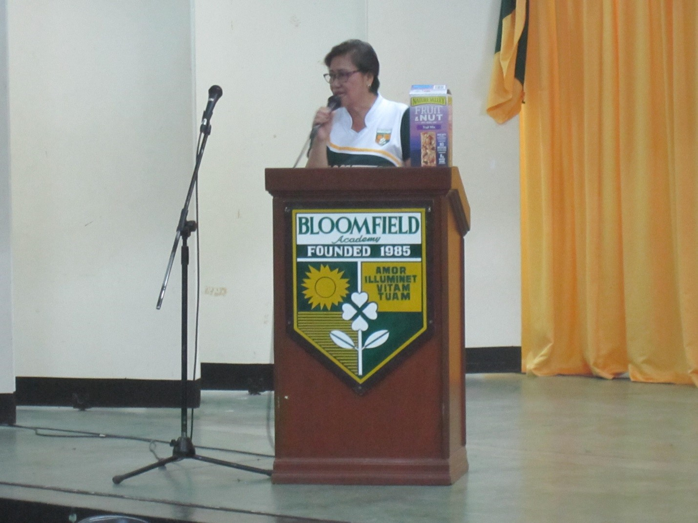 Ms. Erlinda P. Juan, the school principal, gave an enthusiastic welcome address.