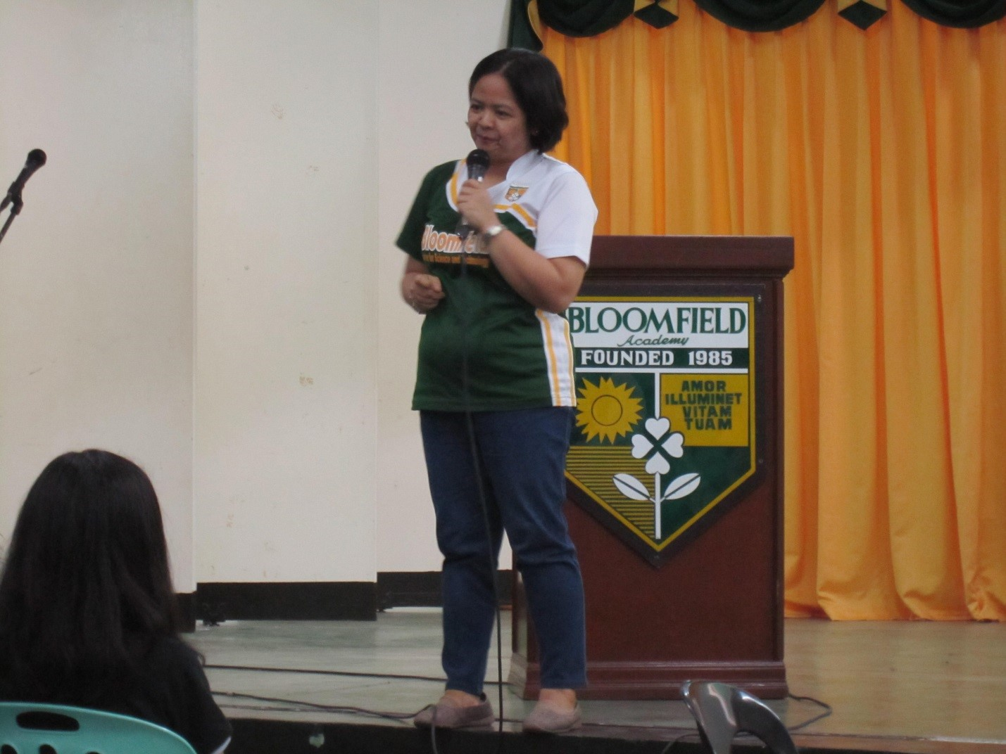 Ms. Gina Villaflor's talk focused on the programs that Guidance offers. She also emphasized that she is a guidance counselor who is always willing to help and reach out to every student.
