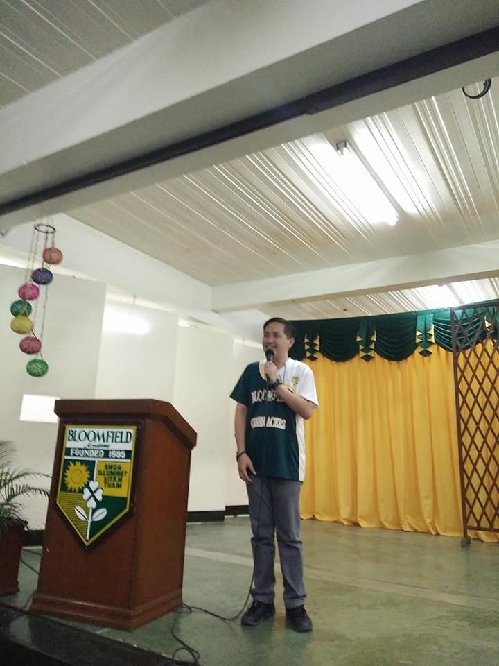 Sir Ruel Carballo, the Prefect of Discipline, gave an informative yet engaging talk about the school policies.