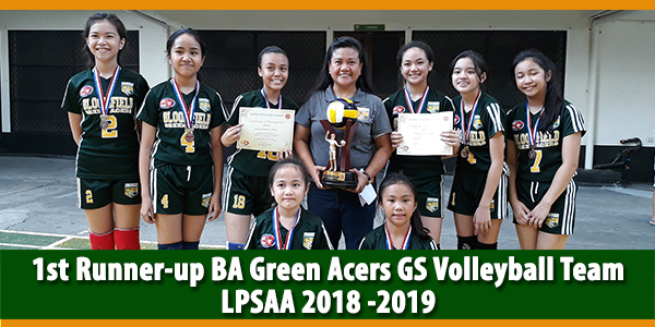 Bloomfield Green Acers Soars as First Runner Up in LPSAA Season 17 Volleyball Elementary Girls